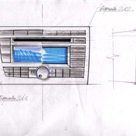 Промышленный дизайн головного устройства для LADA Priora